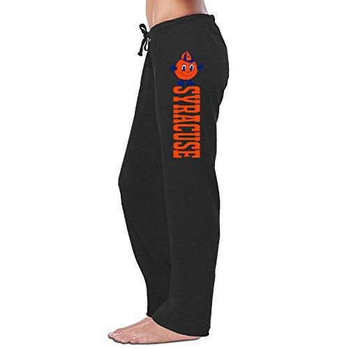 Women's Syracuse Orange Sweatpants L Black Jersey Pant