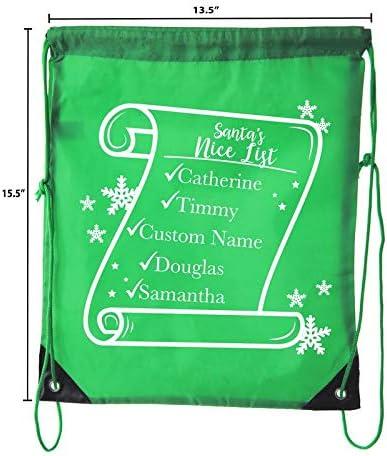 Christmas Goody Bags for Parties Secret Santa /& more 10PK Red CA2500Christmas S3 Custom Christmas Gift bags