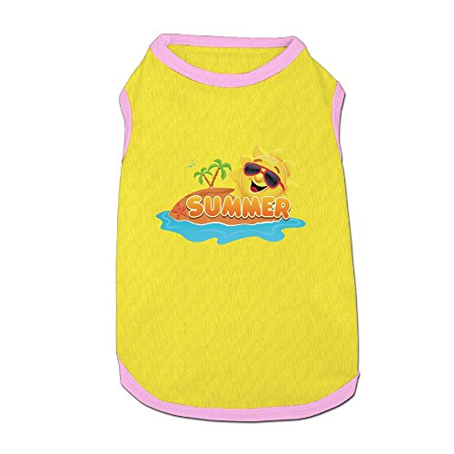 Dog T-Shirt Clothes Cool Sun Doggy Puppy Tank Top Pet Cat Coats Outfit Jumpsuit - Sunglasses Jung