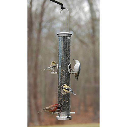 Aspects 393 Quick-Clean Seed Tube Feeder, Large - Brushed Nickel