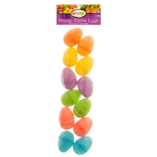 Plastic Easter Eggs with Glitter 12pcs