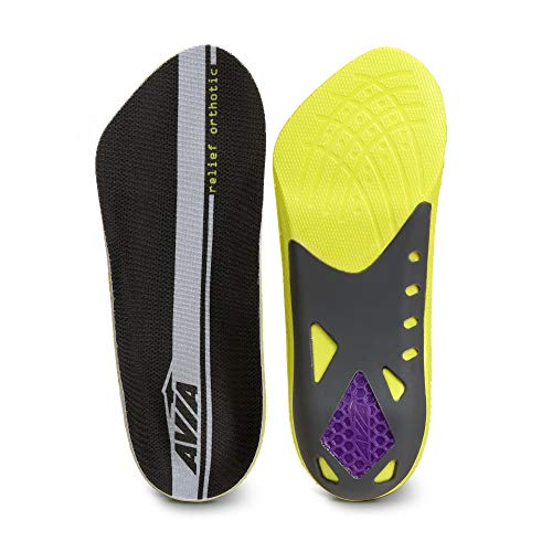 Avia 3/4 Length Plantar Fasciitis Orthotic All-Day Relief Shoe Insoles (Women