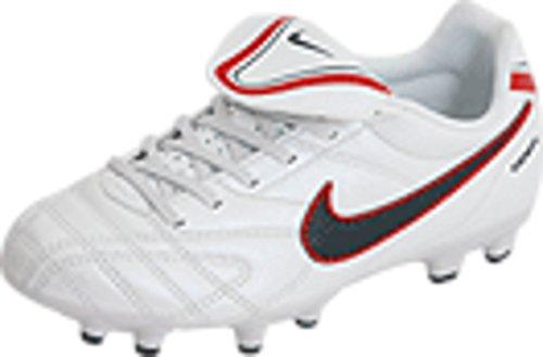 Nike Junior Tiempo Natural III FG - (White/Black/Red) (4.5 M US Big Kid)