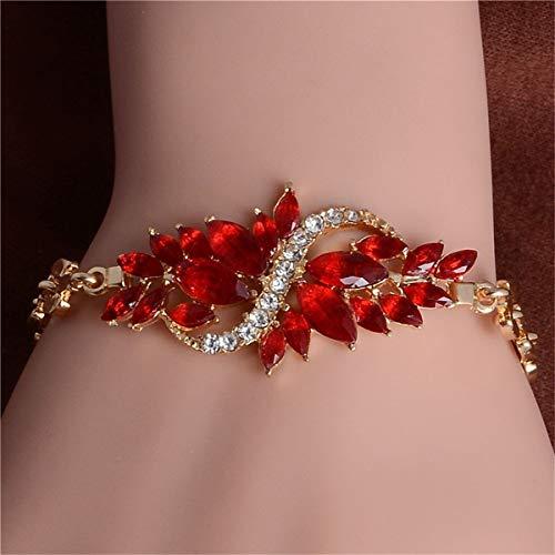 CUTEDAY-BRACELET New Women Gold Filled 5 Colors CZ Austrian Crystal Bracelets & Bangles Jewelry Wholesale Sales A23