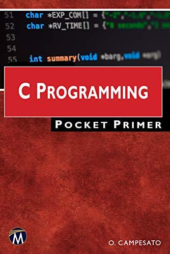 C Programming Pocket Primer Kindle Editon