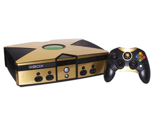 Microsoft Xbox Skin (Original) - NEW - BRUSHED GOLD system skins faceplate decal mod ()