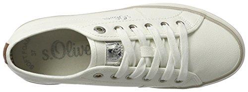 s.Oliver Damen 23640 Sneaker Weiß (WHITE UNI 107)