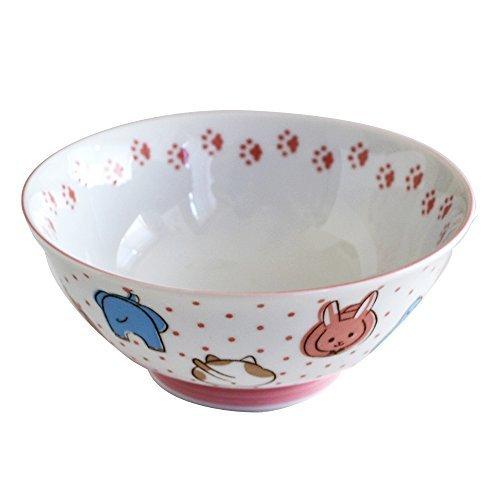 Tableware East Kid's 20 oz (600 cc) Ramen Bowl Rice / Bonburi Bowl Animal Print Pink Made in Japan by Table ware East