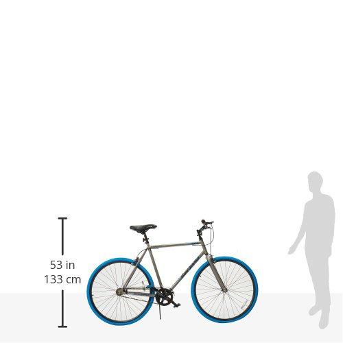 Takara Sugiyama Flat Bar Fixie Bike, 700c, Gray/Blue, Large/58cm Frame