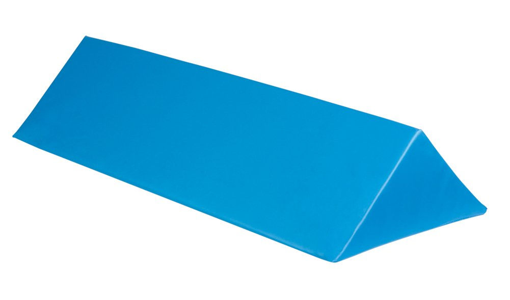 45 Degrees Triangle Positioner, Upholstered Blue, 7Hx7Wx24Lx9.5 slope inches