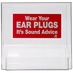 "Ltd. DP Ear Plug Dispenser with Hinged Lid, 1"" x 1"" x 1"""
