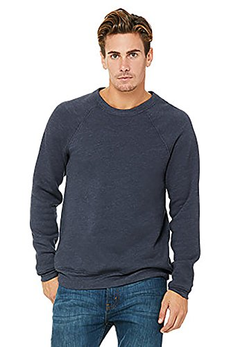 Bella + Canvas Unisex Sponge Fleece Crewneck Sweatshirt M Heather Navy