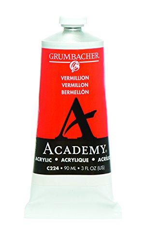 Grumbacher Academy Acrylic Paint  90Ml 3 Oz Metal Tube  Vermillion