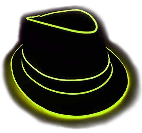 GlowCity Men's Light Up Fedora Hat LG (Neon Fedora Hats)