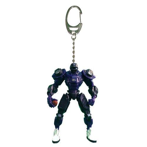 NFL Baltimore Ravens Fox Sports Team Robot Key Chain, 3-inches