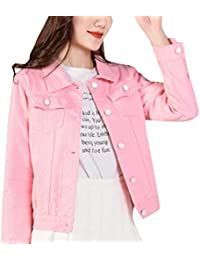 Single Breasted Baggy Fashional Long Sleeve Denim Jean Coat