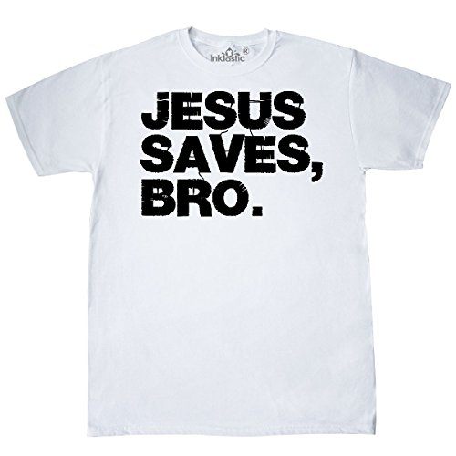 White Bro T-shirt (inktastic - Jesus Saves, Bro. T-Shirt Medium White 11520)