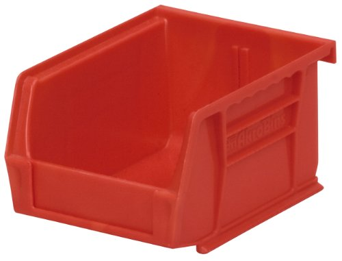 Akro-Mils 30210 Plastic Storage Stacking Hanging Akro Bin, 5-Inch by 4-Inch by 3-Inch, Red, Case of ()
