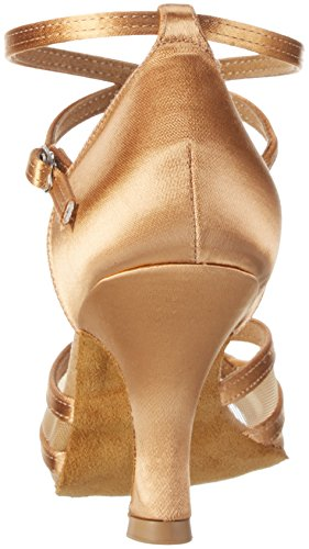 Diamant Damen Tanzschuhe 035-108-087, Zapatos de Tacón para Mujer Beige (Schwarz)