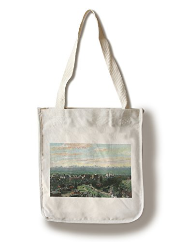 Salt Lake City, Utah - Aerial View of the City (100% Cotton Tote Bag - Reusable, Gussets, Made in America) (Aerial America Utah compare prices)