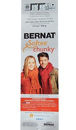 Bernat Softee Chunky Yarn Bundle Super Bulky #6, 3 Skeins True Grey 28044