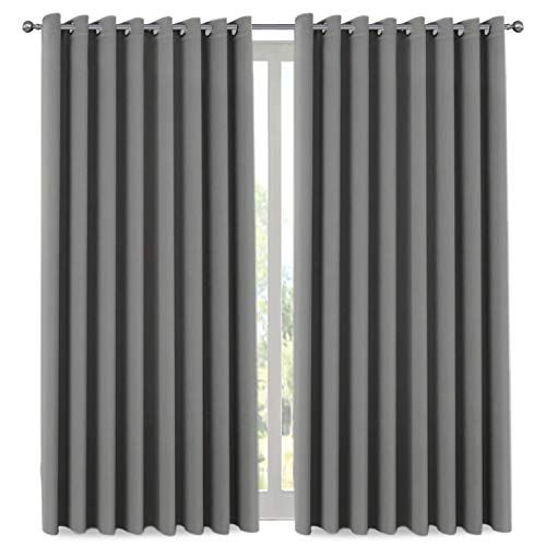 blackout patio grey curtains
