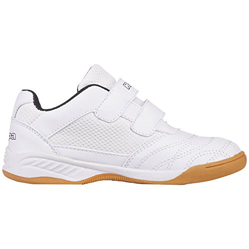 Kappa Unisex-Kinder Kickoff Teens Low-Top Weiß (1011 white/black)
