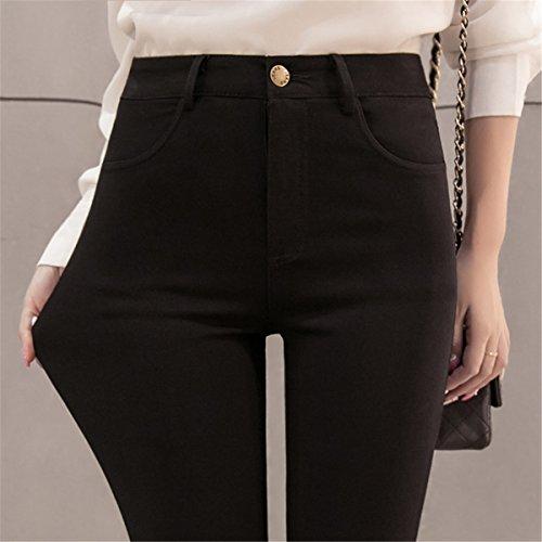 DaBag Pantaloni Leggings da Donna Nero Vita Alta Skinny Pantalone Ragazzi Cotone Tapered Pants Primavera Autunno Elasticizzata Paillettes Esterno