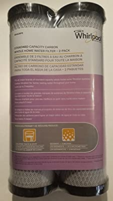 Whirlpool WHA2BF5 Standard Capacity Carbon Whole Home Water Filter - 2 Pack