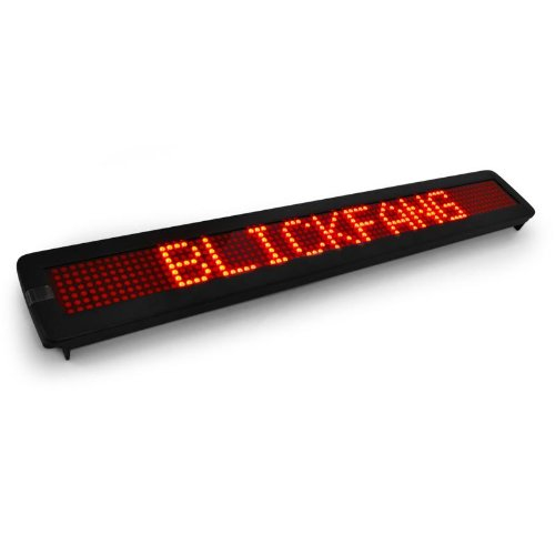 QTX Letrero deslizante luminoso con tira LED roja (560 LED ...