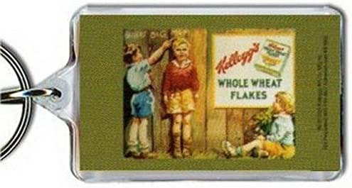 Hot Properties Kelloggs Whole Wheat Flakes Cereal Lucite Keychain KK1852