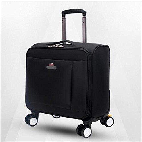 Trolley-Tasche Geschäft Laptop Rucksack Fliegen genehmigt Leichtgewicht Wasserdicht Reisen 4 Runden Trolley-Tasche 002 FtvDfrnc