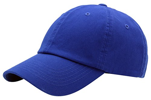 BRAND NEW 2016 Classic Plain Baseball Cap Unisex Cotton Hat For Men & Women Adjustable & Unstructured For Max Comfort Low Profile Polo Style  Unique & Timeless Clothing Accessories By Top Level, Royal Blue, One Size -