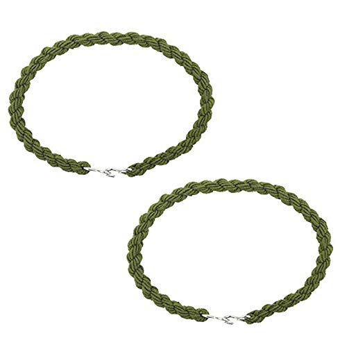 KUNSON 5 Pairs Military Army Trouser Twists Leg Ties Twisters Bungee Elastic Cadet, Boot Bands/Blousing Straps Elastic Garters(10 pieces)