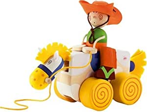 Sevi Pull Along Toy, Cowboy