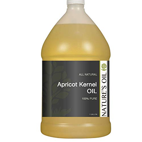 Nature's Oil Apricot Kernel Oil Gallon - Hair and Skin Moisturizer. Carrier Oil for Essential Oils and Massage.