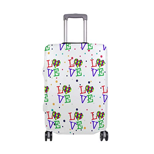 Love Heart Travel Luggage Cover - Suitcase Protector HLive Spandex Dust Proof Covers with Zipper, Fits 18-32 inch by HLive (Image #6)