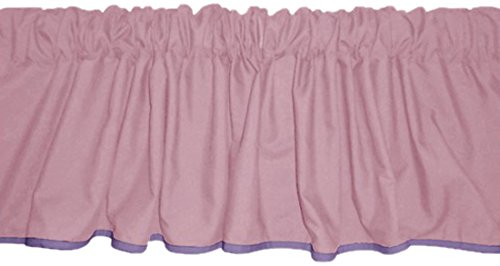 Baby Doll Bedding Solid Two Tone Window Valance, Pink/Lavander