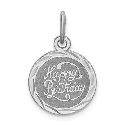 Pendant Happy Birthday Disc - 925 Sterling Silver Happy Birthday Disc Pendant Charm Necklace Special Day Fine Jewelry Gifts For Women For Her
