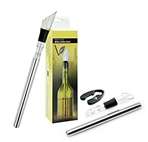 Vgreenlife Multifunctional Wine Chiller- Wine Chiller, Pourer and Aerator with Bonus Foil Cutter-It will keep your wines chilled for hours. This is great gift idea for the men and women in your life.