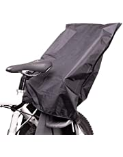 Zamboo Regnskydd för barncykelsadel – regnskydd för barn cykelsadel bak (t.ex. Thule, polisport, Urrider, Hamax) – svart