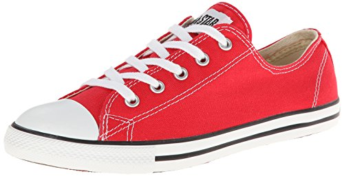 Converse Women's Chuck Taylor Dainty Low Top Sneaker Varsity Red 8 M US Converse Red Shoes