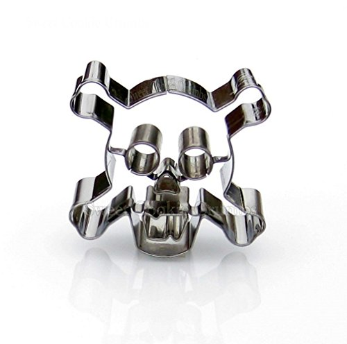 Danger Skull Cookie Cutter - Stainless Steel -