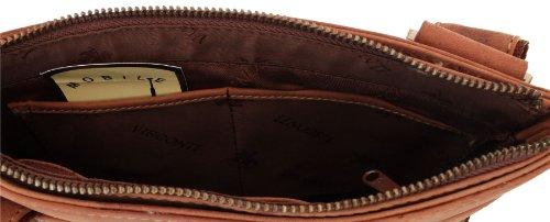 Visconti 16111_4 - Bolso cruzados de cuero para mujer marrón marrón