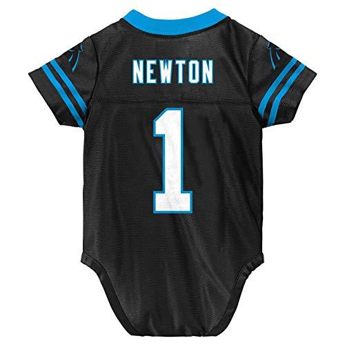 Outerstuff Cam Newton Carolina Panthers #1 Black Newborn Home Player Jersey (3/6 Months) (Baby Boy Panthers)