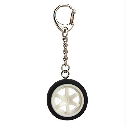 Iuhan® Fashion New Popular Creative Car Auto Metal Mini Wheel Rim Tyre Key Chain Keyring - Rim The Michaels