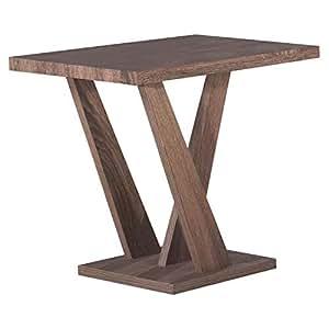 Jiwa Berani Carla End Table, Brown - 60H x 45W x 55D cm