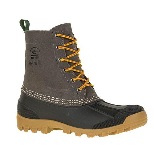 Kamik Yukon Mens Waterproof Winter Duck Boots Charcoal qrF4nPofwr