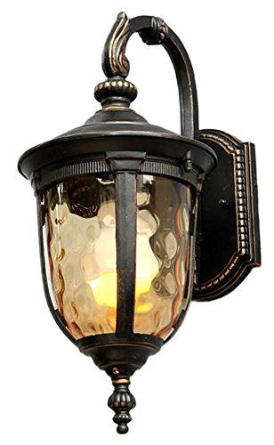 G&L Outdoor Balcony Wall Lamp Waterproof Corridor Aisle Hall Hanging Garden Lights,43Cm Brass Hall Lanterns