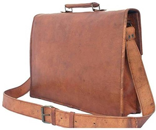 Tuzech Large Bold And Stylish Hunter Leather Bag Handcrafted Messenger Office Regular Bag Fits Laptop Upto 15.6 Inches